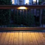 Under railing LED deck light.