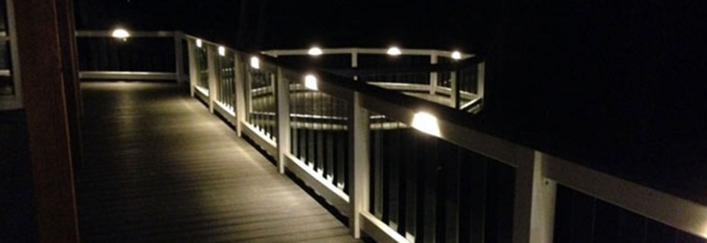 Under the rail LEDs. Deck Lighting.