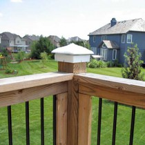White Hammered Deck Light / Light Post Cap.
