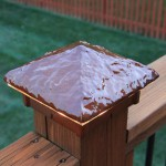 Hammered, Sunburst color Deck Light / Lighted Post Cap.