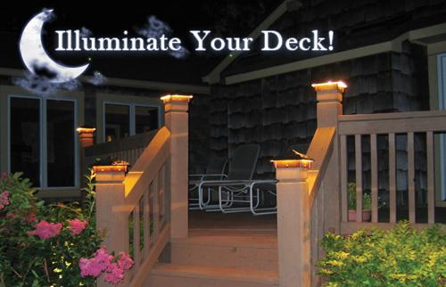 Deck lights deck lighting low voltage lighted post caps at night deck lights deck lighting low voltage lighted post caps at night mozeypictures Gallery