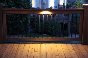 LED Under the railing deck light.