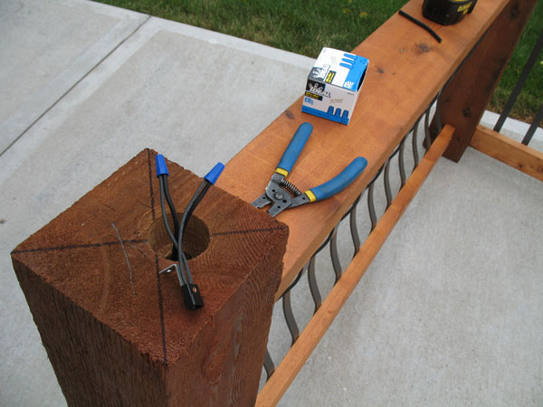 How To Install Low Voltage Lighted Post Caps Deck Lighting