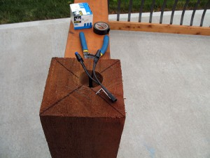 How to install low voltage lighted post caps / deck lighting.