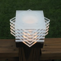 Snowflake Post Cap / Deck Light.