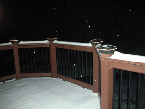 Deck Lights / Deck LIghting in the winter.