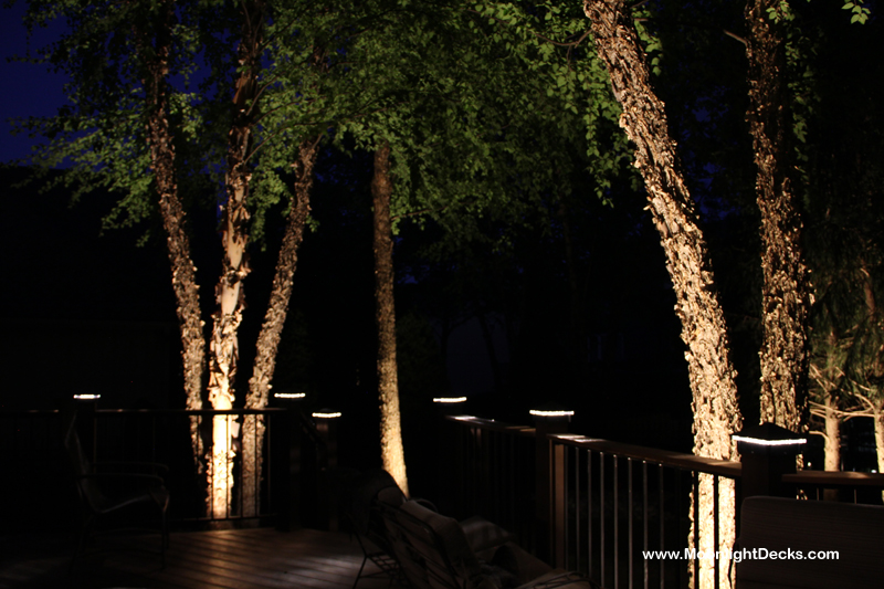 New deck lighting and landscape lighting in overland park new deck lighting and landscape lighting in overland park moonlight decks aloadofball Choice Image