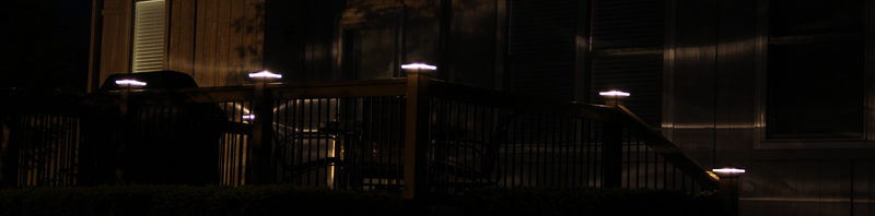 New deck lighting in Overland Park